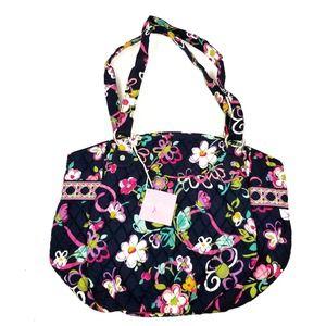 Vera Bradley NWT Glenna Shoulder Bag Tote Ribbons Pattern